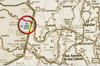 Mapa Jama