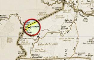 Mapa Socompa