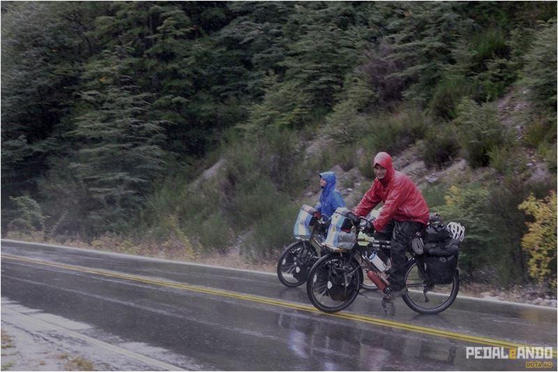 Mojados llegando a Bariloche